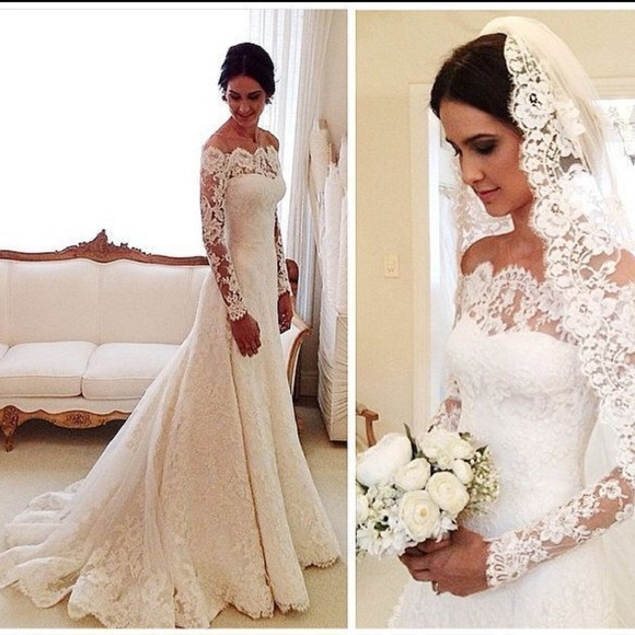 Dresses | Vintage Long Sleeve Lace Wedding | Poshmark